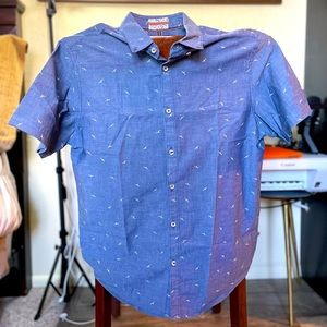 "DEMIN & FLOWER .. MEns Shirt ""Slim Fit"" 👔 Short Sleeve"